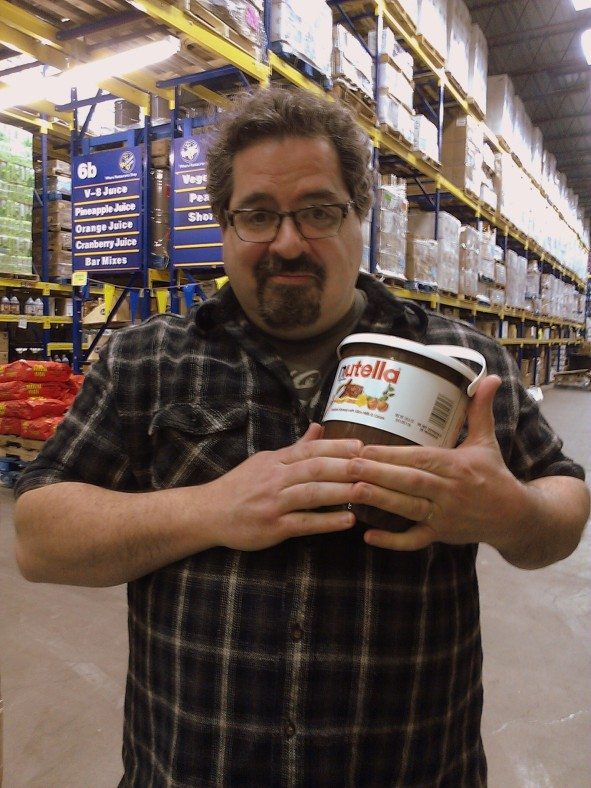 Mark with the Nutella Baby