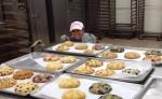 Kim in the kitchen with mini scones
