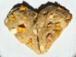 Fresh Mango White Chocolate Chip Scones