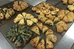 A few varieties of April Fool scones