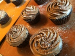 Chocolate Ganache Cupcakes with Buttercream Frosting