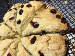 Cranberry Almond Cream Scones